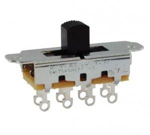 Przełącznik suwakowy 3 pozycje DP3T Switchcraft