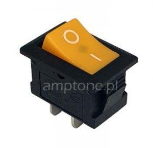 Przełącznik rocker MRS101 żółty SPST