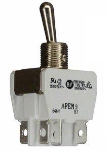 Przełącznik dźwigniowy Apem DPDT