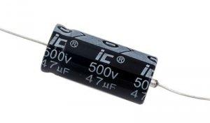 Kondensator 47uF 500V osiowy Illinois