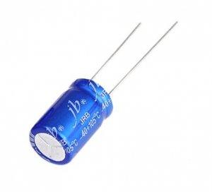 JB capacitor 100uF 10V JRB