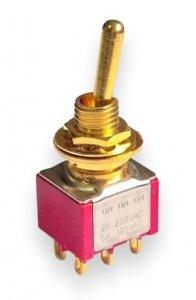 Przełącznik gitarowy dźwigniowy (on-on-on) Gold HQ