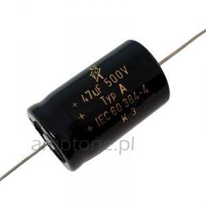 Kondensator elektrolityczny 47uF 500V F&T