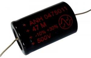 Kondensator 47uF 500V osiowy JJ