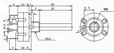 Przełącznik obrotowy 12 pozycji 1 obw. 24mm