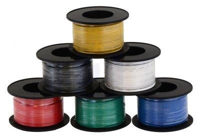 Kabel jednożyłowy solid 0,25mm2 czerwony (drut)