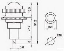 Lampka / kontrolka, bursztynowa komplet