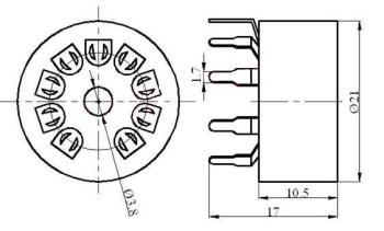 Podstawka Noval 9pin druk typ3 Gold