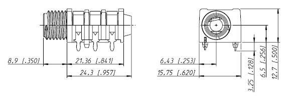 Gniazdo Jack 6,3mm Stereo NRJ6HF slim