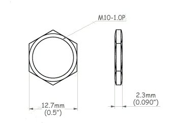 Nakrętka niklowana M10