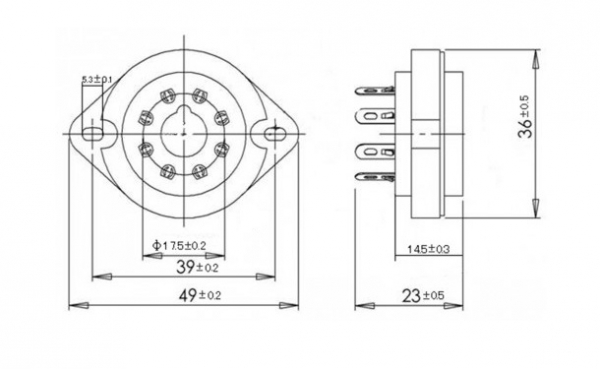 Podstawka Octal 8pin typ7 ceramiczna