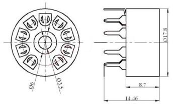 Podstawka Noval  9pin druk typ1