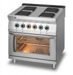 Kuchnia elektryczna 4-płytowa z piekarnikiem elektrycznym z termoobiegiem GN1/1 L700.KE4 PET Lozamet
