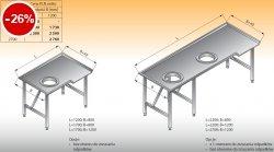 Stół sortowniczy kątowy lewy lo 312 - 2200x800 Lozamet