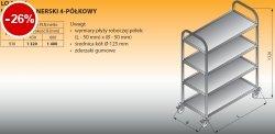 Wózek kelnerski 4-półkowy lo 805/4 - 930x600