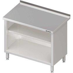 Stół przyścienny, zabudowany z 2-ma półkami 900x600x850 mm
