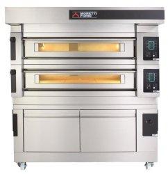 Wielokomorowy elektryczny piec do pizzy i piekarniczy S100E piec jednokomorowy z okapem i bazą