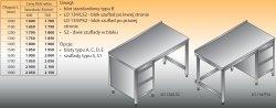Stół roboczy z blokiem szuflad lo 134/s2 - 1500x600