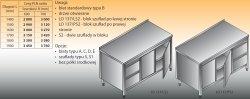 Stół roboczy z blokiem szuflad i szafką lo 137/s2 - 1700x600