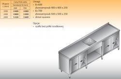 Stół zlewozmywakowy 1-zbiornikowy lo 222 - 2800x700