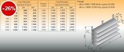 Cztery półki naścienne z szynami lo 634 - 1900x300