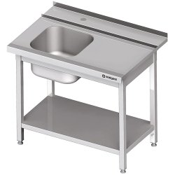 Stół załadowczy(P) 1-kom. z półką do zmywarki SILANOS 1200x760x900 mm skręcany