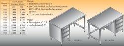 Stół roboczy z blokiem szuflad lo 134/s3 - 1400x600