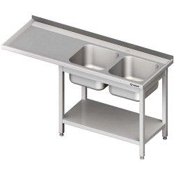 Stół ze zlewem 2-kom.(P) i miejscem na lodówkę lub zmywarkę 1800x700x900 mm