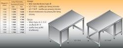 Stół roboczy z szafką lo 116/l; lo 116/p 1500/700