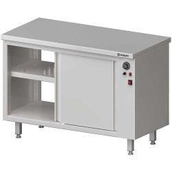 Stół przelotowy, z szafką grzewczą,drzwi suwane 1100x600x850 mm