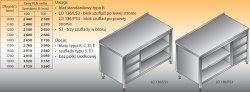 Stół roboczy z blokiem szuflad i szafką otwartą lo 136/s3 - 1200x600