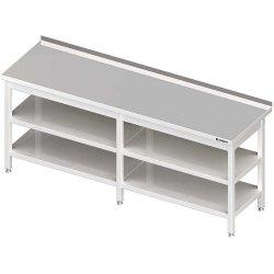 Stół przyścienny z 2-ma półkami 2800x700x850 mm spawany