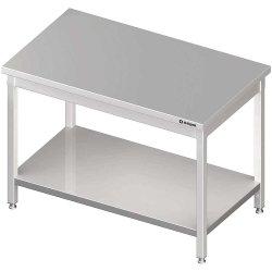 Stół centralny z półką 1500x700x850 mm spawany