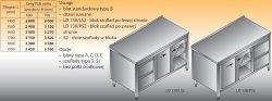 Stół roboczy z blokiem szuflad i szafką lo 138/s2 - 1400x600