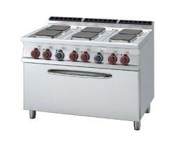 Kuchnia elektryczna zpiekarnikiem na 3x GN 1/1 RM Gastro CFQ6 - 712 ET