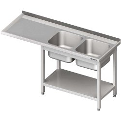 Stół ze zlewem 2-kom.(P) i miejscem na lodówkę lub zmywarkę 2100x600x900 mm