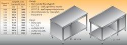 Stół roboczy z szafką i półką lo 117/l; lo 117/p 1700/700