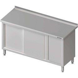 Stół przyścienny z szafką (P),drzwi suwane 1400x700x850 mm