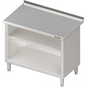 Stół przyścienny, zabudowany z 2-ma półkami 1300x700x850 mm
