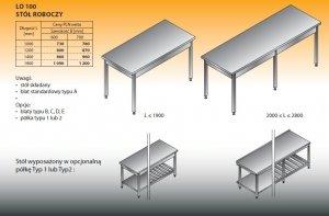 Stół roboczy lo 100 1200/700
