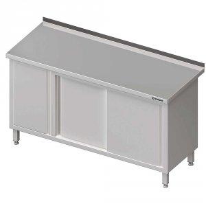 Stół przyścienny z szafką (L),drzwi suwane 1800x700x850 mm