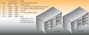 Stół roboczy z blokiem szuflad i szafką lo 138/s3 - 1800x600