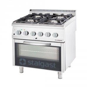 Kuchnia gazowa z piekarnikiem elektrycznym, 4-palnikowa, P 20.5+7 kW, U G30