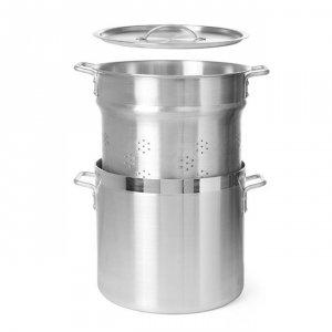 Garnek aluminiowy Profi Line z wkładem i pokrywką poj 45 l (użytkowa 35l) ⌀400