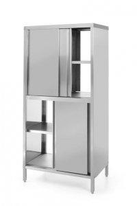 Szafa przelotowa z drzwiami suwanymi - skręcana, o wym. 800x500x(H)1800 mm