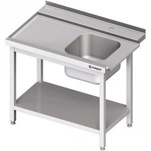 Stół załadowczy(L) 1-kom. z półką do zmywarki STALGAST 1300x750x880 mm skręcany