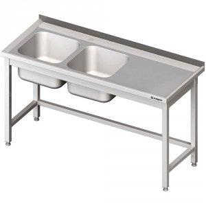 Stół ze zlewem 2-kom.(L),bez półki 1800x700x850 mm