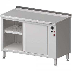 Stół przyścienny, z szafką grzewczą,drzwi suwane 1200x600x850 mm