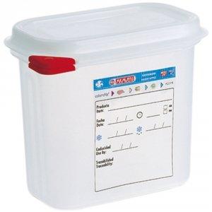 Pojemnik z polipropylenu z pokrywką szczelną, GN 1/9, H 100 mm