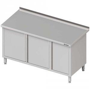 Stół przyścienny z szafką (P),drzwi skrzydłowe 1700x600x850 mm